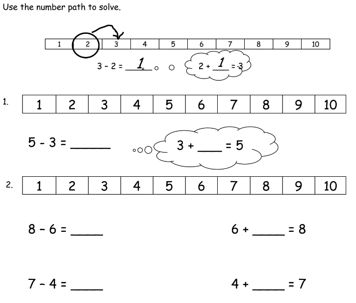 Number path 1st grade