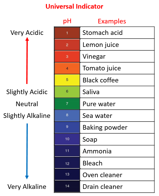 pH indicator examples