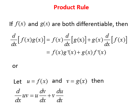 Calculus - Product Rule (solutions, examples, videos)