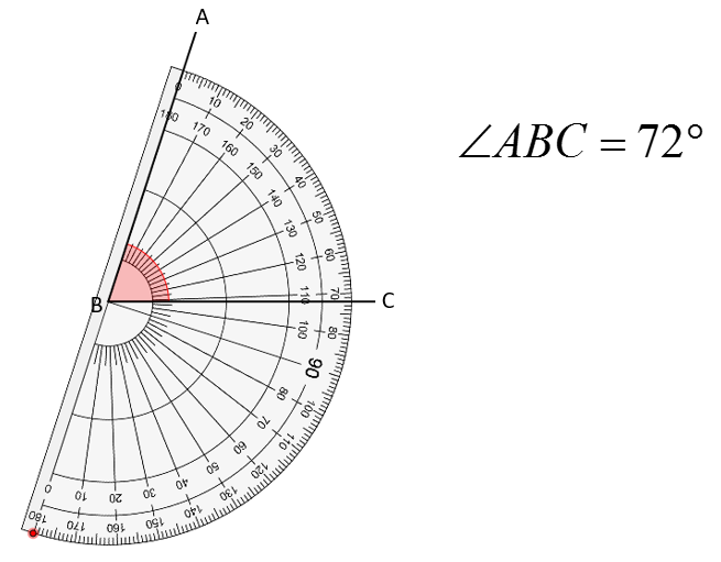 protractor angle
