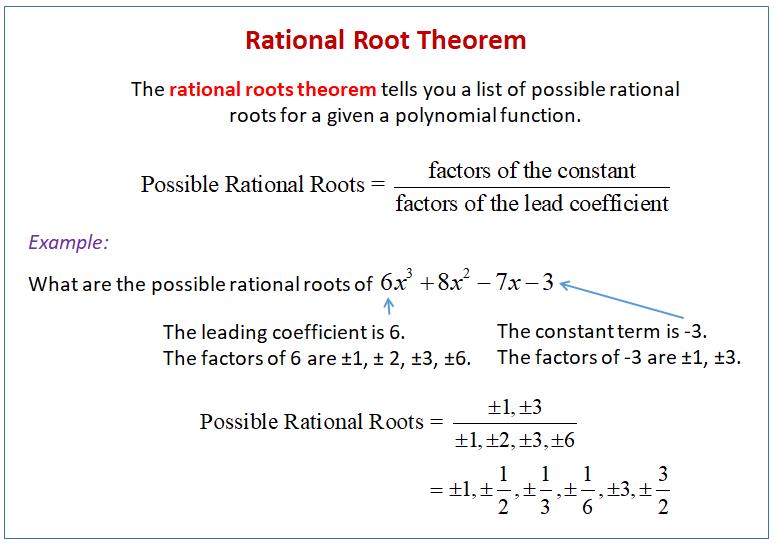 Rational Root Theorem
