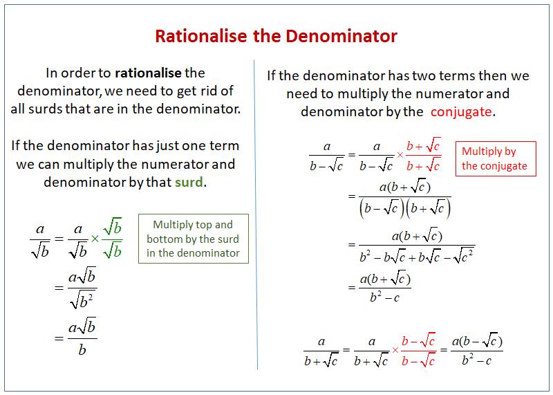 Rationalise Denominator