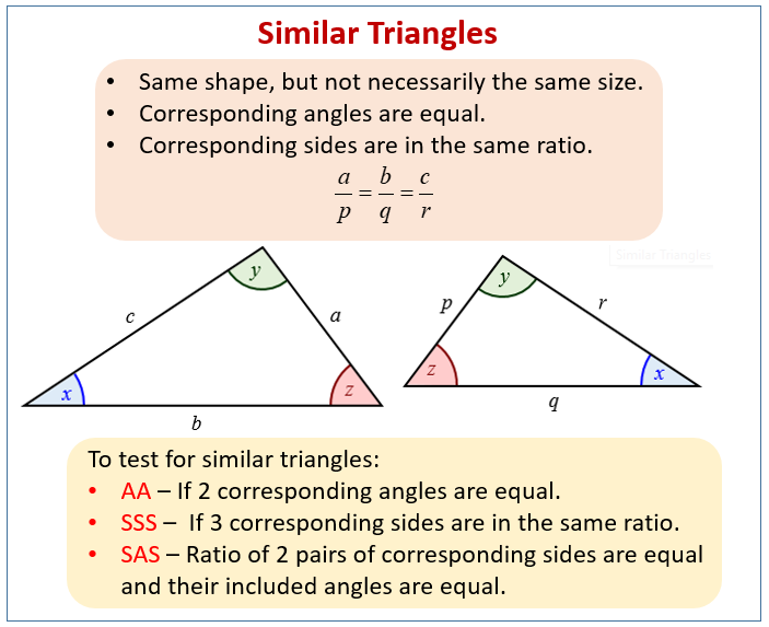 Conditions for Similar Triangles