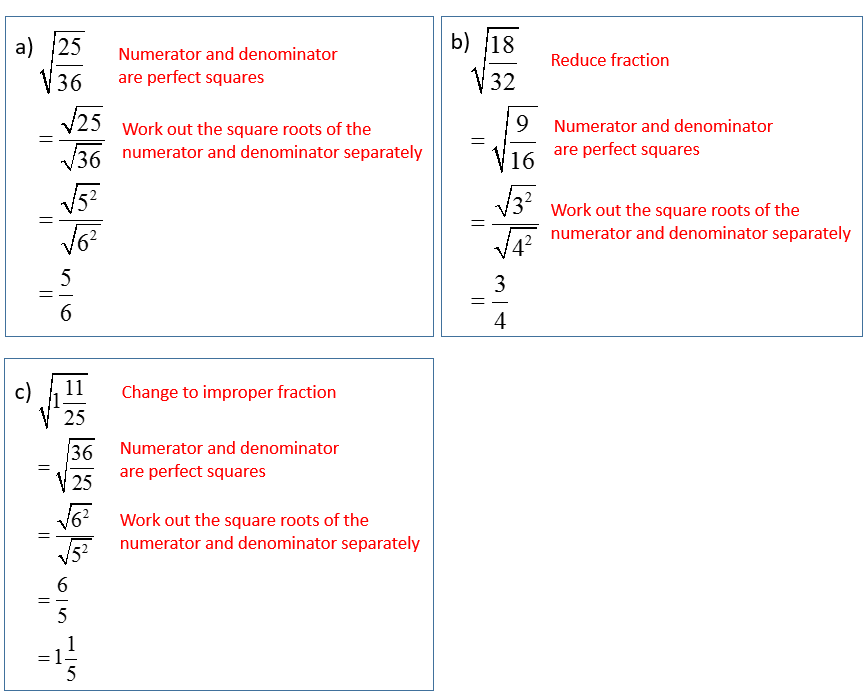 Simplify Squares Roots Radicals that have Fractions solutions – Simplify Square Roots Worksheet