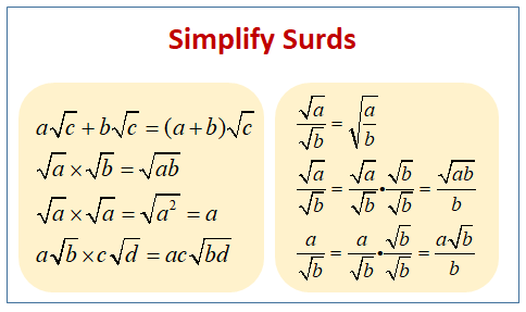 Simplify Surds
