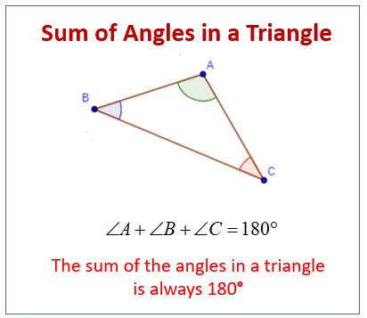 Sum angles triangle
