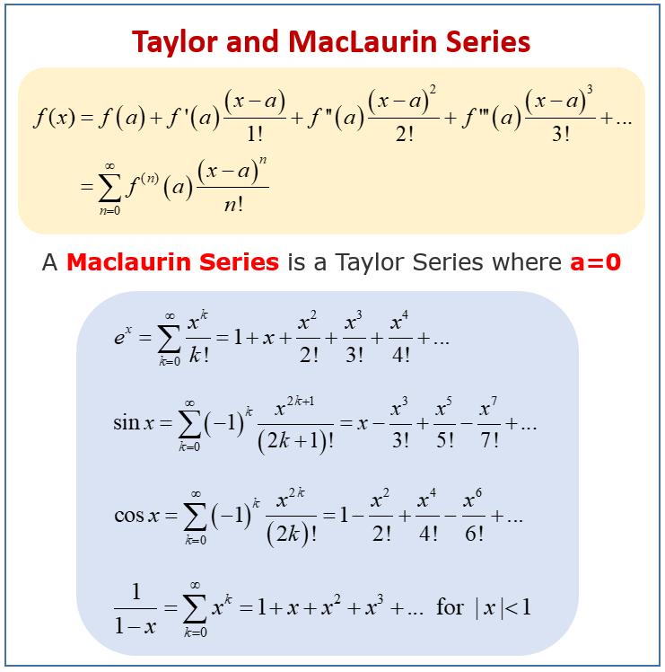 Taylor MacLaurin Series