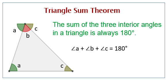 Triangle Sum Theorem Solutions Examples Worksheets Videos