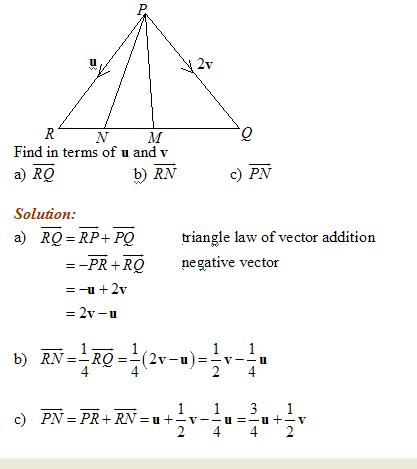 Vector Geometry (solutions, examples, videos)