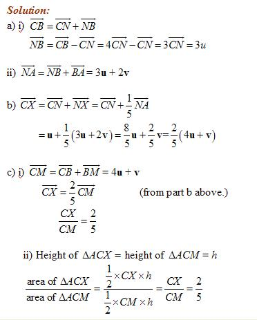 vector geometry solutions examples videos  how to solve vector geometry problems gcse revision questions on vectors topics in this lesson vectors numbers magnitude of a vector
