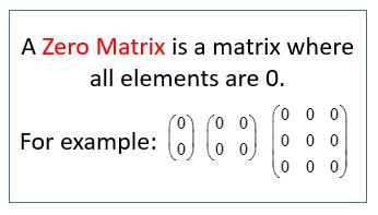 Zero Matrices